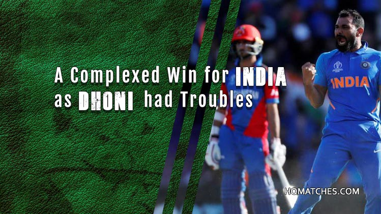 India Vs Afghanistan - Match Review CW19